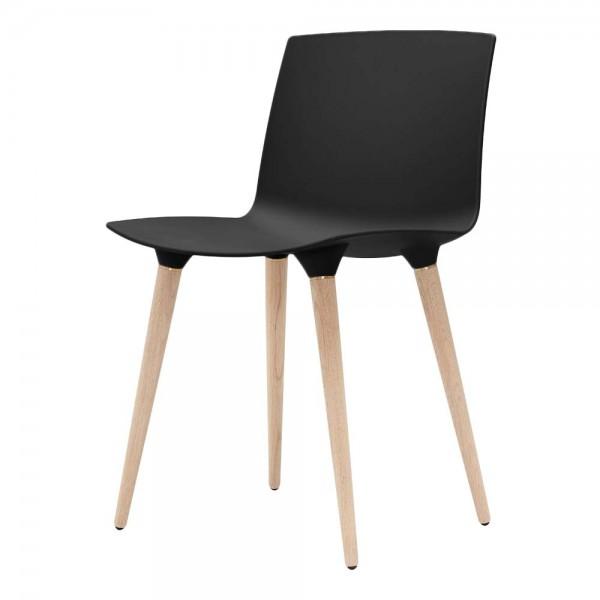 """""""The Andersen Chair"""" - Esszimmerstuhl in Schwarz, Beine in Natur"""