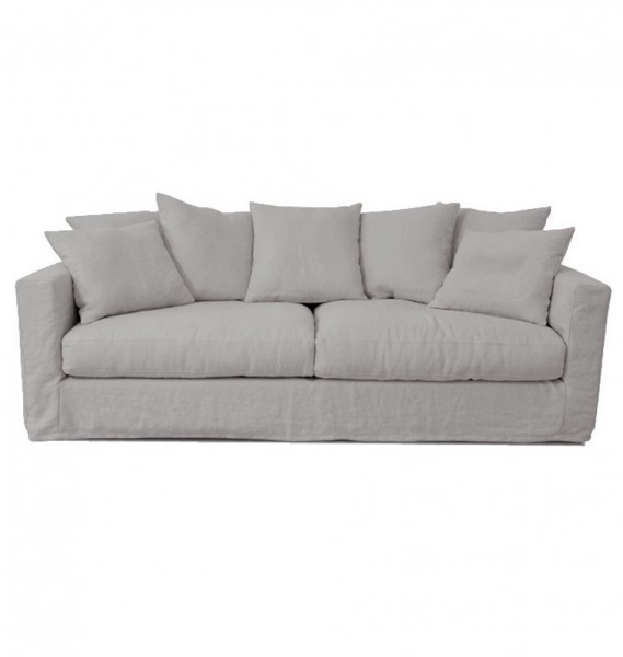 "Hussensofa ""London"" - bequemes Sofa in grau"
