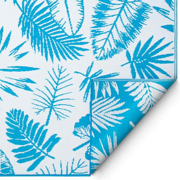 "Outdoor-Teppich ""Palma"" in Blau-Weiß"