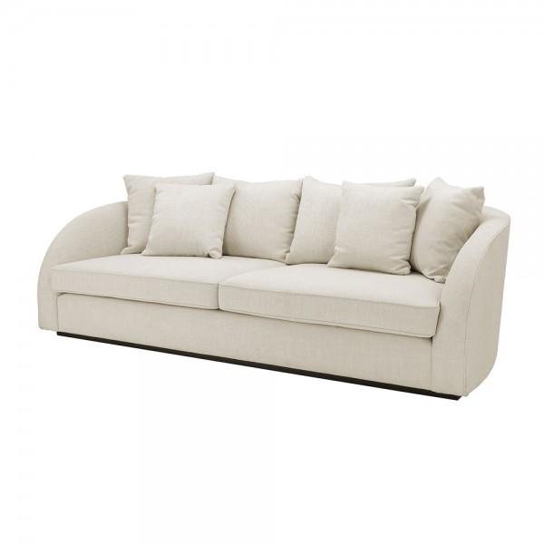 """EICHHOLTZ Sofa """"Les Palmiers"""" in Creme"""