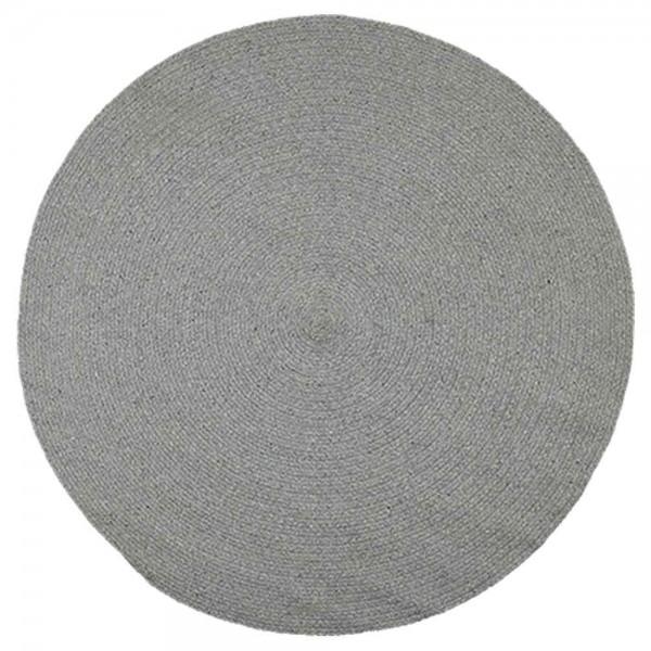"""Runder Baumwollteppich """"Moon"""" in Grau"""