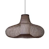 """Korblampe """"Aalia"""" - aus braunem Bambus"""