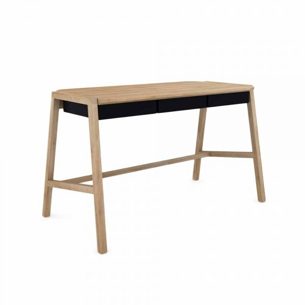 """Schreibtisch """"Holger"""" - mit schwarzen Schubladen"""