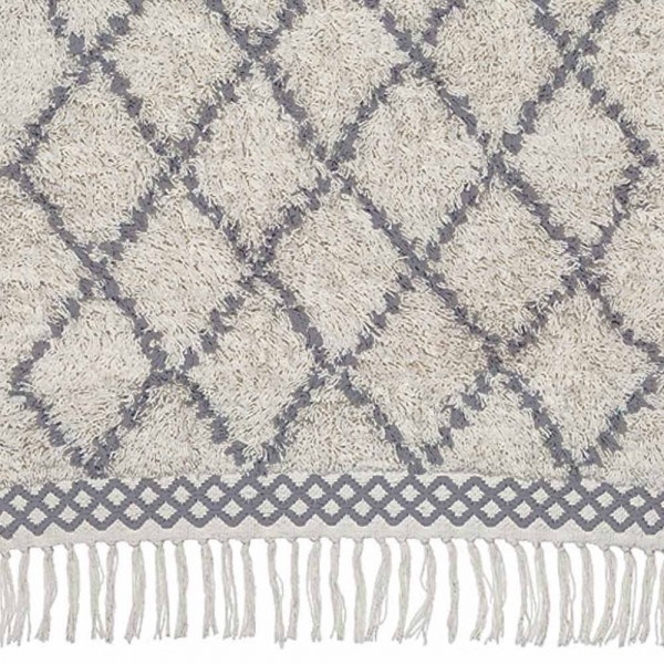 "liv interior Teppich ""Morocco"" - in Creme und Grau"