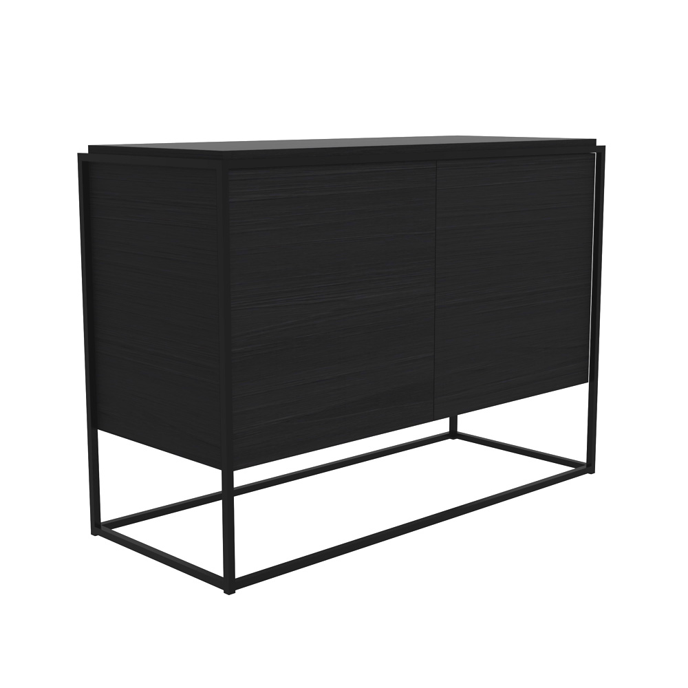 schwarzes sideboard aus eiche. Black Bedroom Furniture Sets. Home Design Ideas