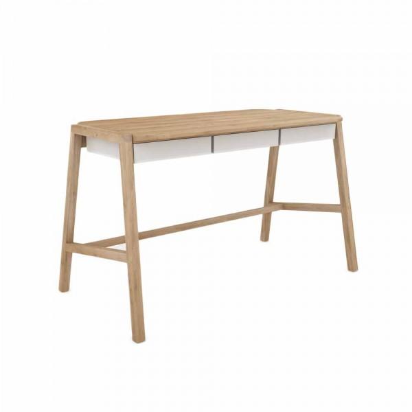 """Schreibtisch """"Holger"""" - mit weißen Schubladen"""