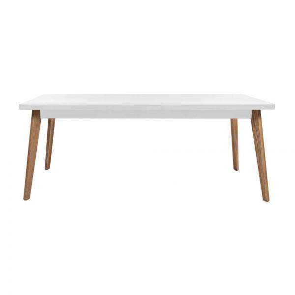 """Tolix Tisch """"Table 55"""" mit weißer Tischplatte aus Stahl"""