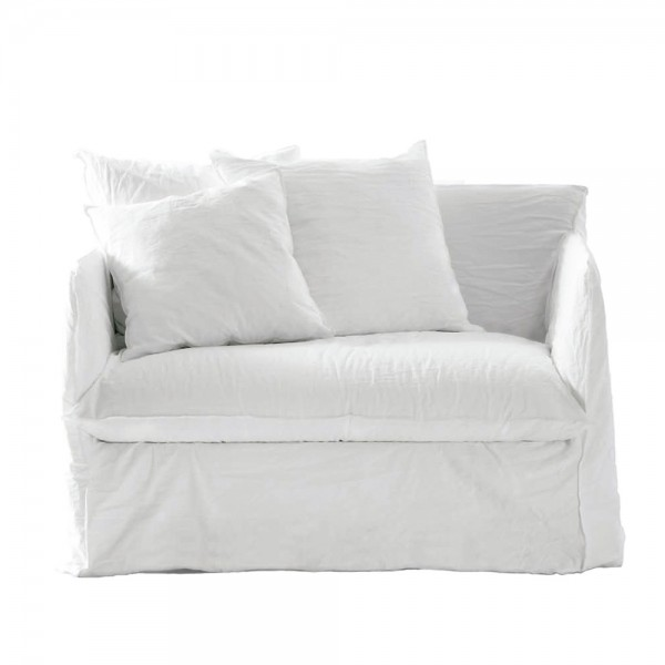 """Sessel """"Gost 09"""" von Gervasoni - aus weißem Husse Stoff"""