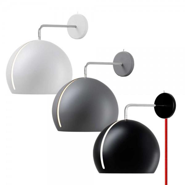 "Wandleuchte ""Globus"" aus Aluminium"