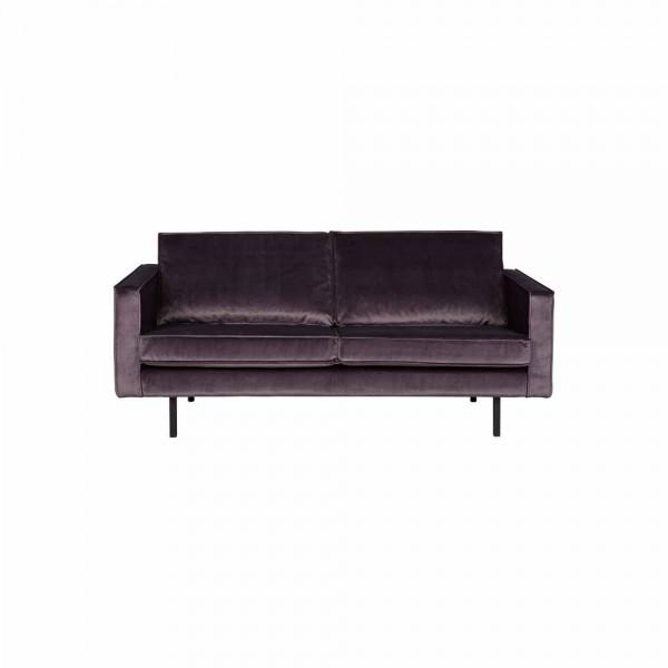 """Couch """"Reka"""" aus dunkelgrauem Samt - 2,5 Sitzer"""