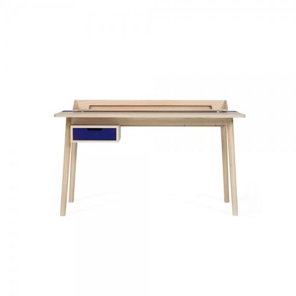 """Hartô Schreibtisch """"Honoré"""" - aus Eiche mit blauem Metall"""