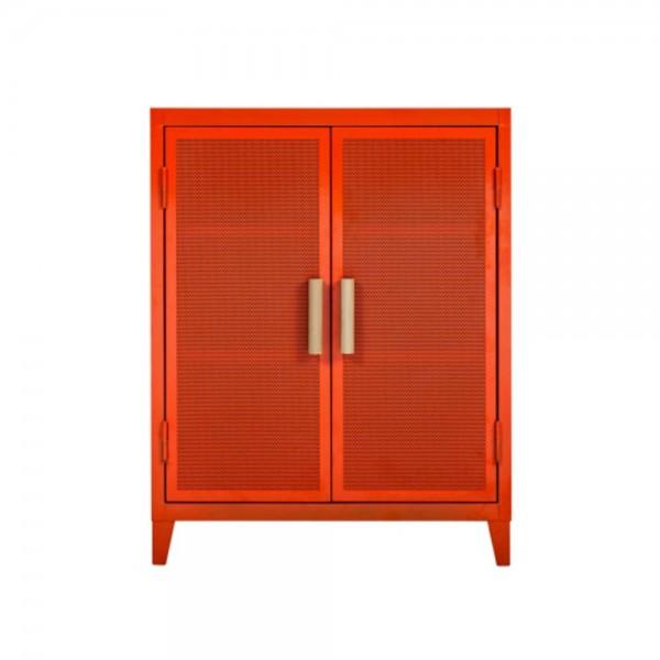"Tolix Sideboard ""B2 bas perforé"" aus Stahl - in Orange"