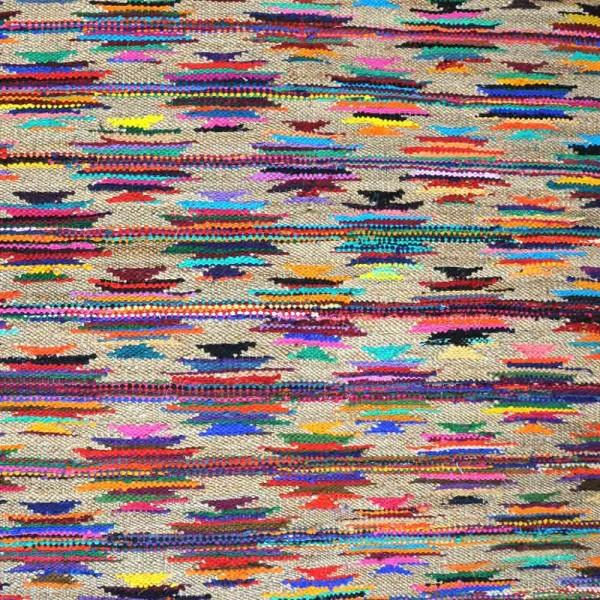 """Teppich """"Zafaar"""" mehrfarbig - aus Baumwolle und Hanf"""