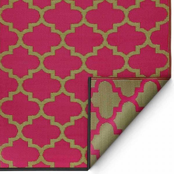 """Outdoor-Teppich """"Tangier"""" in Pink und Bronze"""