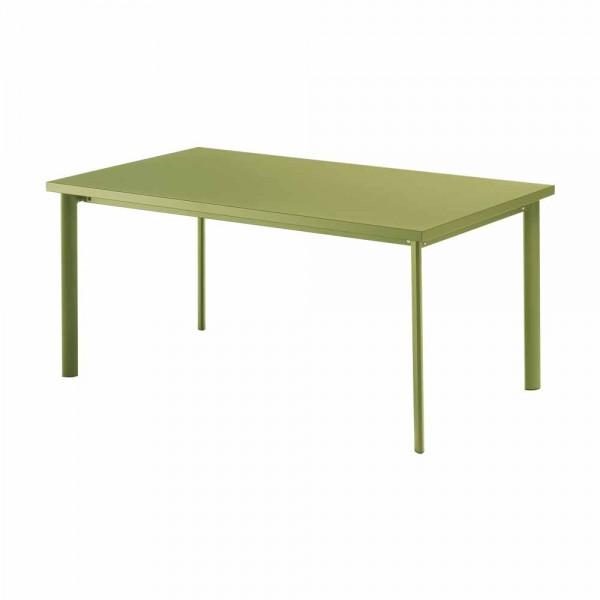 """Grüner Gartentisch """"Star"""" aus Stahl"""