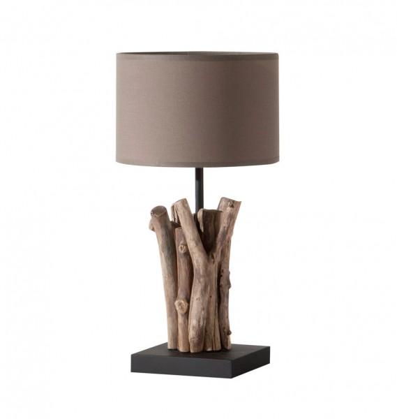 """Tischlampe mit Holzfuß """"Bastone"""" - B-Ware"""