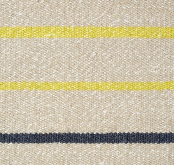 """Wollteppich """"Stripe"""" (gelb-beige)"""