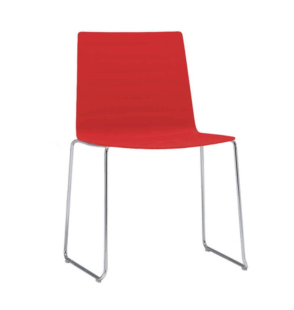 Stuhl flex von andreu world schalenstuhl in rot for Lesesessel rot