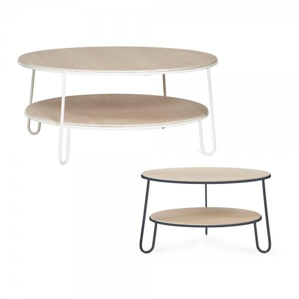 """Hartô Couchtisch """"Eugénie"""" - mit zwei Tischplatten aus Eiche"""