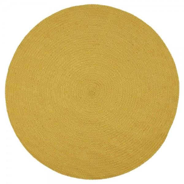 """Baumwollteppich """"Moon"""" von liv interior -in Gelb"""