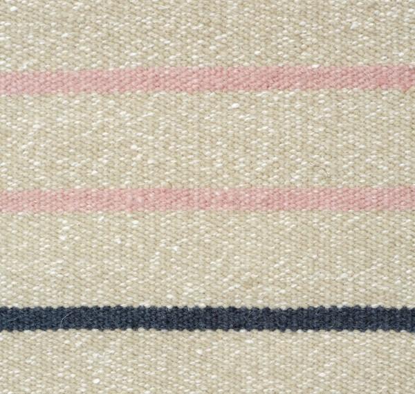 """Wollteppich """"Stripe"""" (rosa-beige)"""