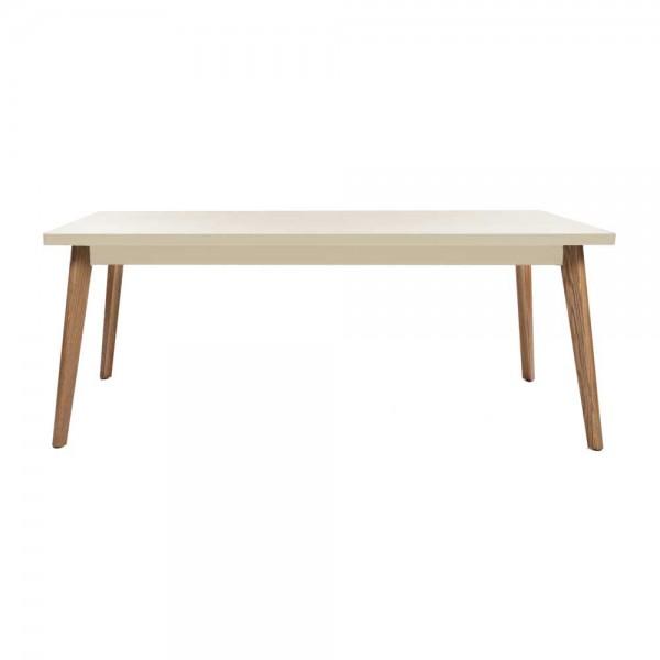 """Tolix Tisch """"Table 55"""" mit beiger Tischplatte aus Stahl"""