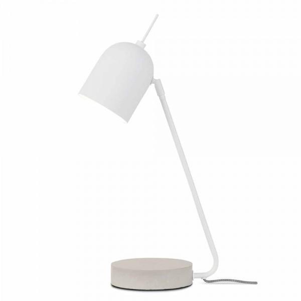 Weiße Tischlampe aus Metall