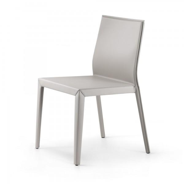 """Weißer Lederstuhl """"Margot"""" von cattelan italia"""