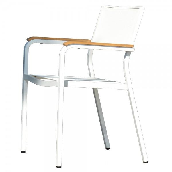 """Weißer Gartenstuhl """"Lux Alu"""" von jankurtz Design - aus wetterfestem Aluminium"""