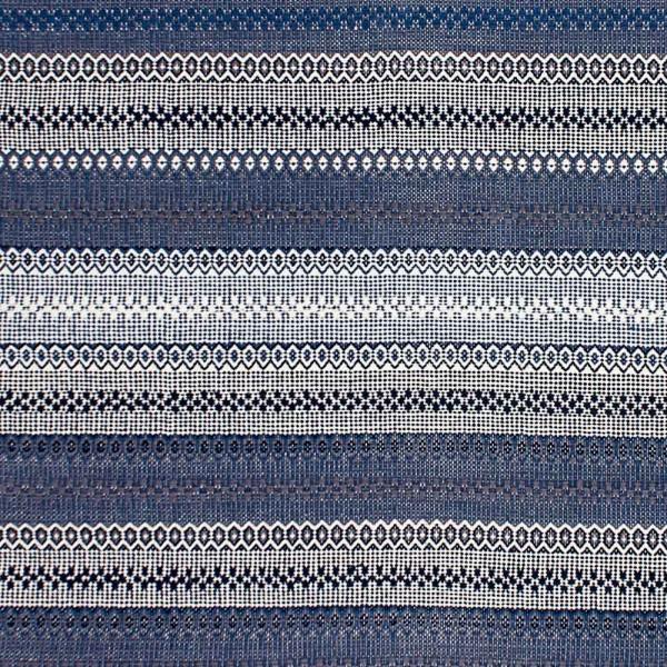"""Baumwollteppich """"Eros"""" in Blau-Weiß"""