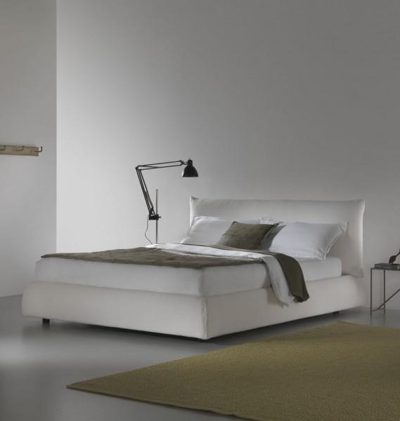 "Lederbett & Boxspringbett ""Pillow"" - in Weiß"