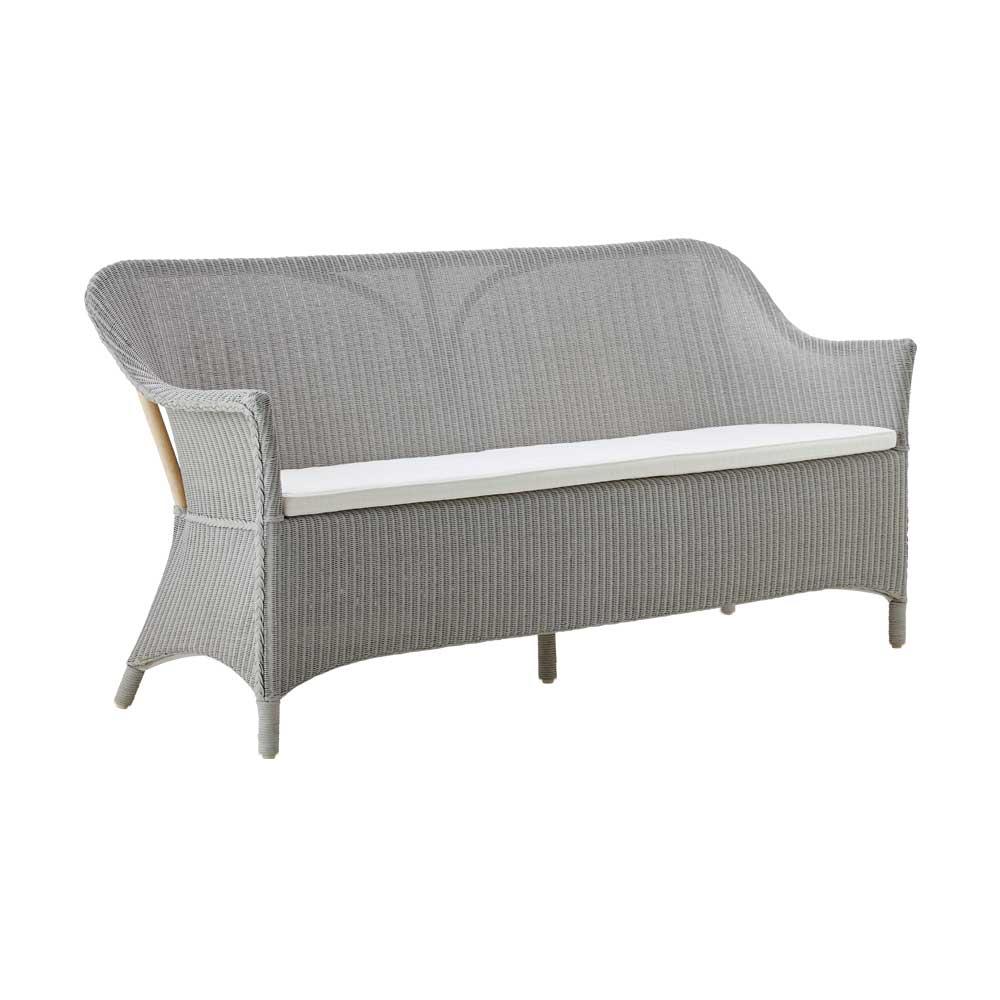 Graues Sofa mit Loom-Geflecht | bei milanari.com