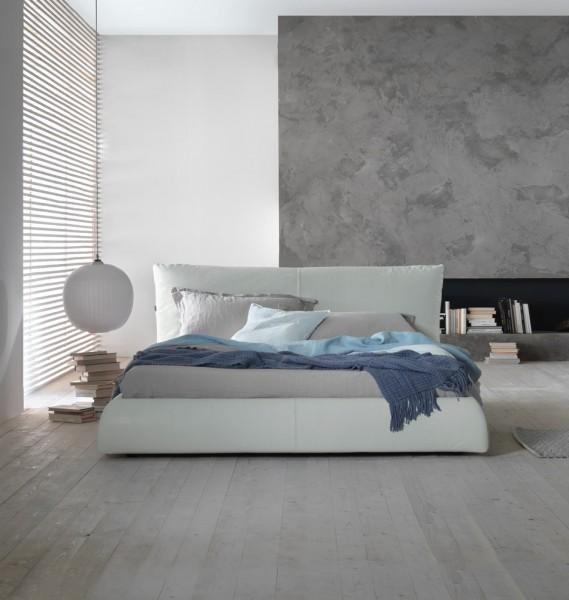 Lederbett Pillow - in Weiß