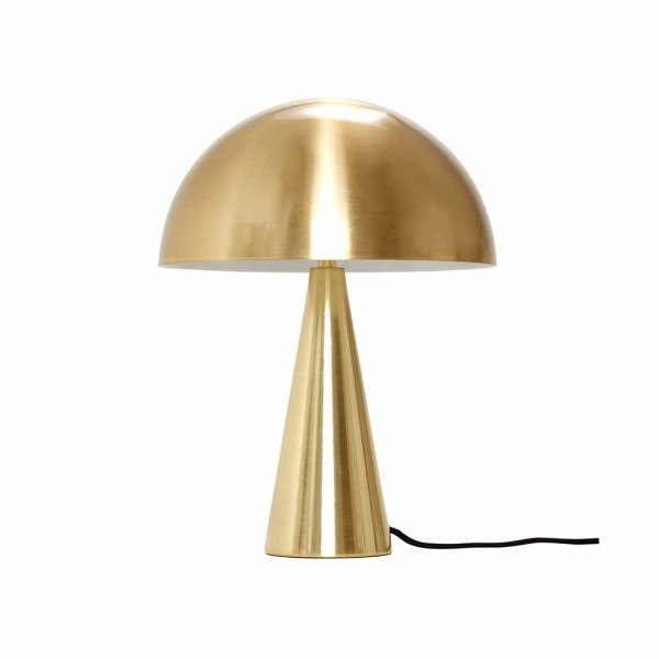 """Kleine Tischleuchte """"Dios"""" in Gold von Hübsch interior"""