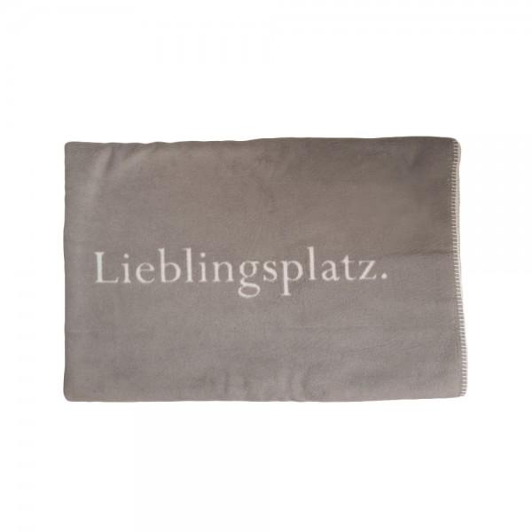 """Decke """"Lieblingsplatz"""" von David Fussenegger in Taupe"""