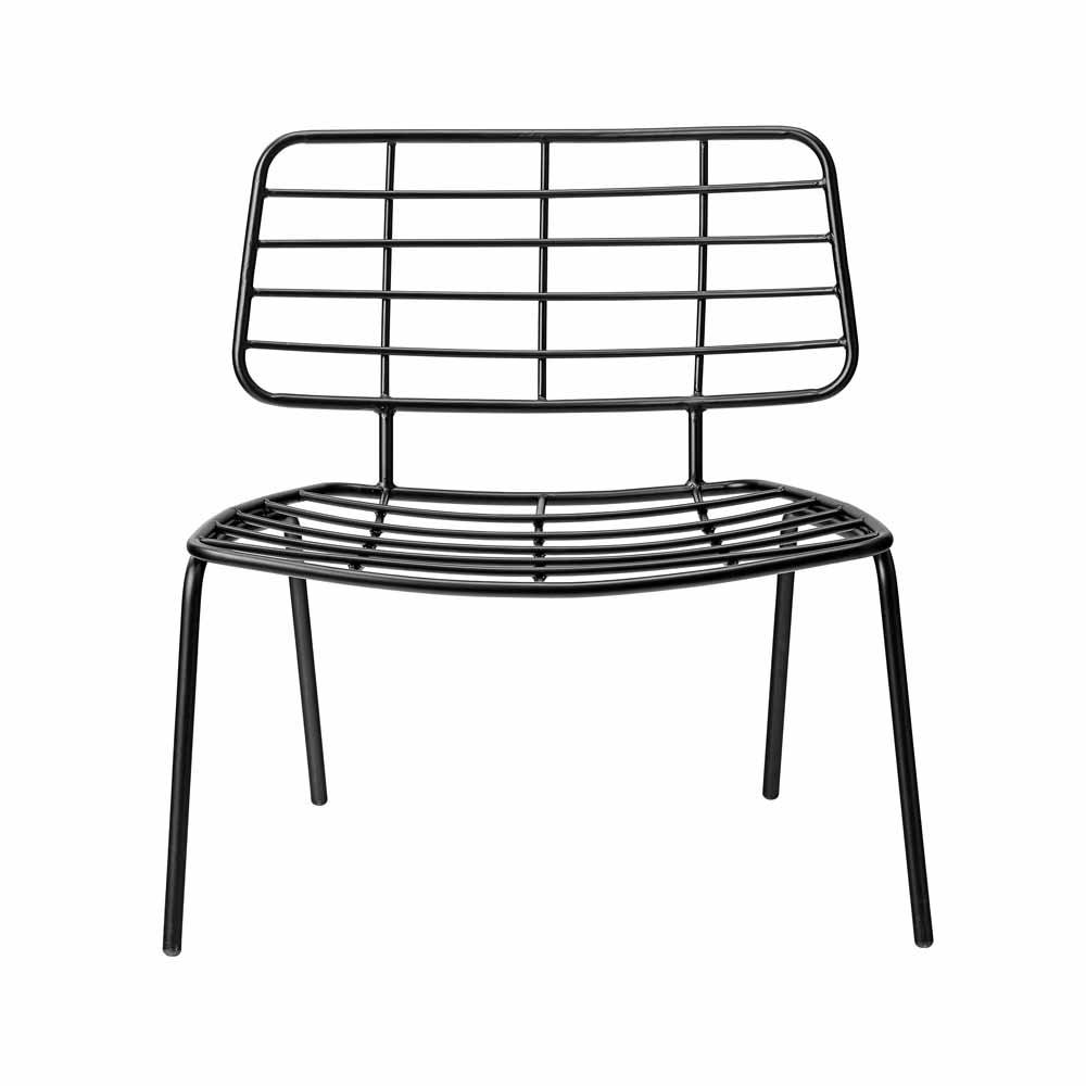 moderner sessel aus metall von bloomingville. Black Bedroom Furniture Sets. Home Design Ideas