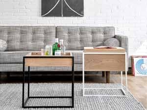 Couchtisch eiche metall  Couch- & Beistelltische aus Eiche bestellen - milanari.com