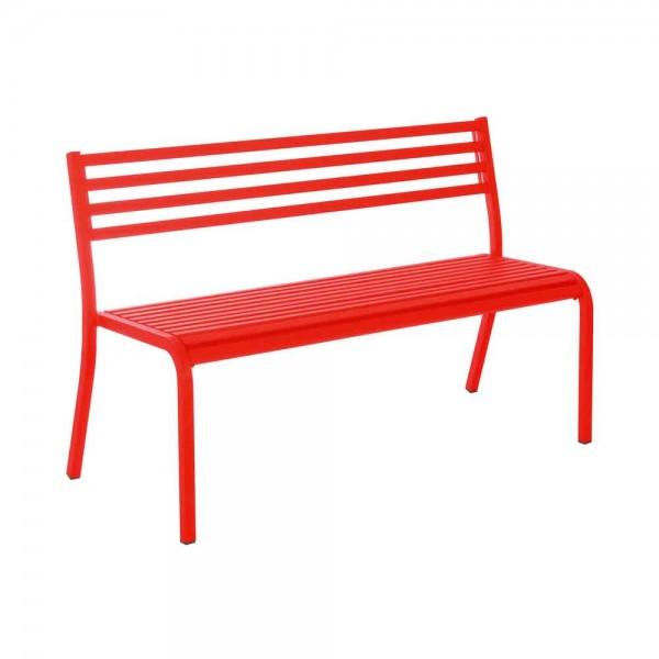 """Gartenbank """"Segno"""" von EMU in Rot"""